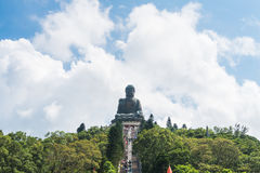 Tian tan buddha of po lin monastery in lantau island hong kong Royalty Free Stock Photography