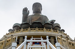 Tian Tan Buddha Statue stockbilder