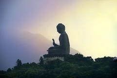 Tian Tan Buddha (stor Buddha), Po Lin Monastery, Hong Kong Arkivfoto