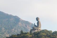 Tian Tan Buddha stora buddha - placerade det mest högväxta utomhus- för världs` s Royaltyfria Foton