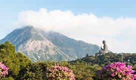 Tian Tan Buddha stora buddha - placerade det mest högväxta utomhus- för världs` s Fotografering för Bildbyråer