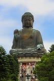 Tian Tan Giant Buddha an PO Lin Monastery Hong Kong Stockfotografie