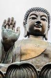 Tian Tan, grand Bouddha, statue en bronze photographie stock libre de droits