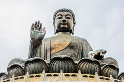 Tian Tan, grande Buddha, statua bronzea Immagini Stock Libere da Diritti