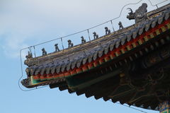 Tian Tan park architecture. Architecture of a decorative rooftop in Tian Tan park, Beijing, China Stock Photography