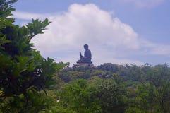 Tian Tan Statue, grand Bouddha en île de Lautau image stock