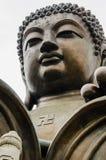Tian Tan stor Buddha, bronsstaty Arkivbild