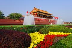 Tian un cancello degli uomini di Pechino Immagine Stock Libera da Diritti
