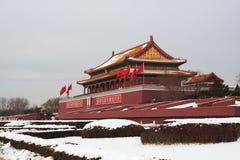 Tian uomini (cancello) della città severa Fotografia Stock Libera da Diritti