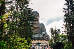 Tian w Hong Kong Dębny Buddha Fotografia Royalty Free