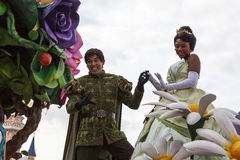 Tiana und Prinz Naveen stockfotografie