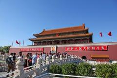 Tiananmen, πύλη της θεϊκής ειρήνης, Πεκίνο, Κίνα Στοκ εικόνες με δικαίωμα ελεύθερης χρήσης