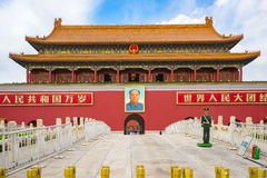 The Tiananmen in Beijing city, China. Beijing, China - April 12, 2017: The Tiananmen is a famous monument in Beijing, the capital of China Stock Photos
