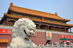 Tiananmen Beijing, Kina Royaltyfri Fotografi