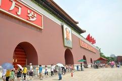 Tiananmen Beijing, Kina Royaltyfri Foto