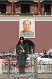 Tiananmen of de Poort van Hemelse Vrede, zijn een beroemd monument in Peking, de hoofdstad van China Stock Afbeeldingen