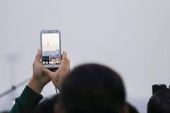 Tiananmen flag raising Stock Images
