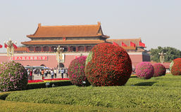 Tiananmen fyrkant -- är en fyrkant för stor stad i mitten av Peking, Kina Royaltyfri Foto