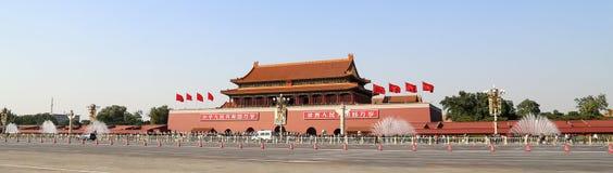 Tiananmen fyrkant -- är en fyrkant för stor stad i mitten av Peking, Kina Royaltyfria Foton