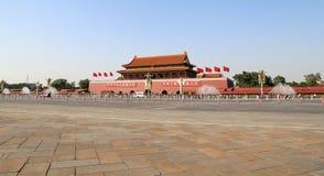 Tiananmen fyrkant -- är en fyrkant för stor stad i mitten av Peking, Kina Royaltyfria Bilder