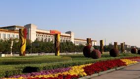Tiananmen fyrkant -- är en fyrkant för stor stad i mitten av Peking, Kina Royaltyfri Bild