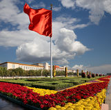 Tiananmen fyrkant -- är en fyrkant för stor stad i mitten av Peking, Kina Arkivfoto