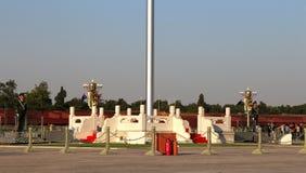Tiananmen fyrkant -- är en fyrkant för stor stad i mitten av Peking, Kina Arkivbilder