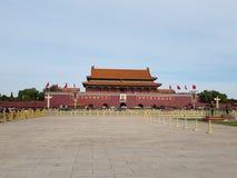 Tiananmen fyrkant Beijing royaltyfri bild