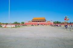 Tiananmen fyrkant, Kina, höst 2016 royaltyfria foton