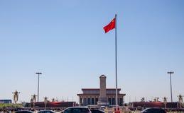 Tiananmen fyrkant och Maos gravvalv Arkivbilder