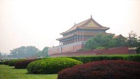 Tiananmen fyrkant, Peking Kina - port av himla- fred Den Tiananmen fyrkanten är fyrkanten för den centrala staden i Peking Beijin arkivbilder