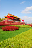 Tiananmen gate. View of Tiananmen Gate in Beijing against blue sky Royalty Free Stock Image