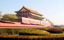 Tiananmen Gate in Beijing. A view of Tiananmen, the Gate of Heavenly Peace, Beijing Stock Images