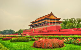The Tiananmen, Gate of Heavenly Peace in Beijing, China Royalty Free Stock Photography