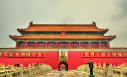 The Tiananmen, Gate of Heavenly Peace in Beijing, China Stock Image