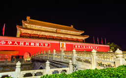 The Tiananmen, Gate of Heavenly Peace in Beijing, China Stock Photography
