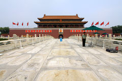 Tiananmen Gate In The Forbidden City Of Beijing Royalty Free Stock Photo