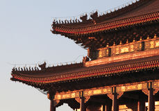 Tiananmen Gate at Sunset Royalty Free Stock Photo