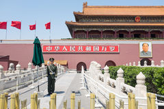 Tiananmen gate to Forbidden City Royalty Free Stock Photos