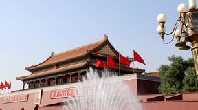 Tiananmen gate tower to the Forbidden City, Beijing, China Stock Image