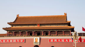 Tiananmen gate tower to the Forbidden City, Beijing, China Royalty Free Stock Photos