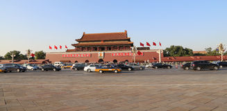 Tiananmen gate tower to the Forbidden City, Beijing, China. Stock Photos
