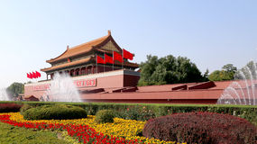 Tiananmen gate tower to the Forbidden City, Beijing, China Royalty Free Stock Image