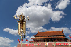 Tiananmen gate tower to the Forbidden City north of Tiananmen Square, Beijing Royalty Free Stock Photos