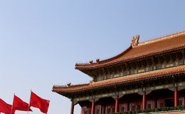 Tiananmen gate tower to the Forbidden City north of Tiananmen Square, Beijing Royalty Free Stock Photo