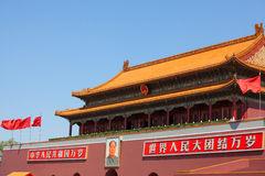 Tiananmen Gates in China, Beijing Royalty Free Stock Images