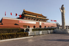 Tiananmen and huabiao Royalty Free Stock Photos