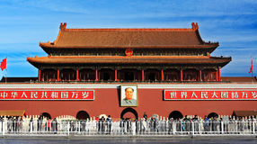 Tiananmen morning Royalty Free Stock Photos