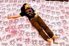 Tiananmen-Nachtwache in Hong Kong Lizenzfreies Stockbild