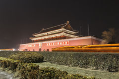 Tiananmen night Royalty Free Stock Photography